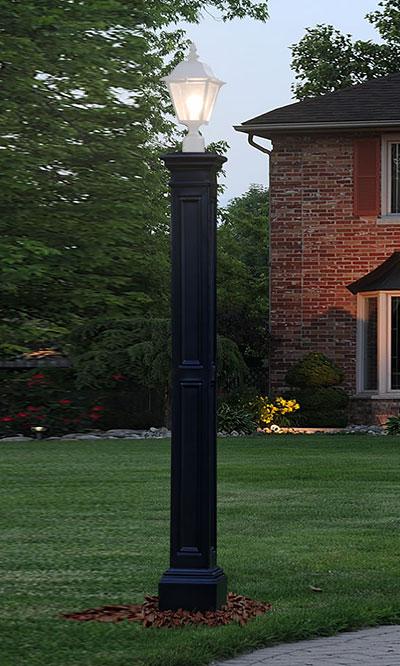 Mayne Liberty Lamp Post With Ground, Mayne Lamp Post