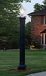 Mayne Liberty Lamp Post with Ground Mount, Black