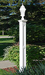 Mayne Liberty Lamp Post with Ground Mount, White