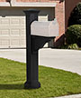 Mayne Manchester Mailbox Post, Black