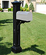 Mayne Charleston Mailbox Post, Black