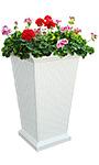"Mayne Wellington Tall Planter, White, 16""L x 28""H"