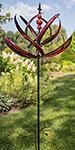 "Marshall Kinetic Spring Reeds Vertical Spinner, Red, 87""H"