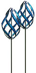 Marshall Kinetic Stratus Vertical Wind Spinners, Blue, 2 Pk