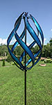 """Marshall Kinetic Stratus Vertical Wind Spinner, Blue, 85.5""""H"""