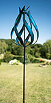 """Marshall Kinetic Taos Vertical Wind Spinner, Blue, 84""""H"""