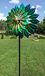 "Marshall Kinetic Monterey Wind Spinner, Blue & Green, 93""H"