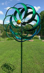 "Marshall Kinetic Aruba Windward Spinner, Blue & Green, 84""H"