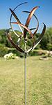 "Marshall Kinetic Cheyenne Wind Spinner, Copper/Verde, 84.5""H"