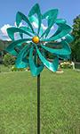 "Marshall Kinetic Festival Wind Spinner, Turquoise, 94""H"