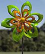 "Marshall Kinetic Springtime Wind Spinner, Green/Orange, 93""H"
