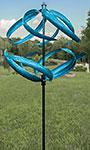 "Marshall Kinetic Sphere Wind Spinner, Blue, 81.5""H"