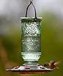 More Birds Vintage Bottle Hummingbird Feeder, 22 oz.