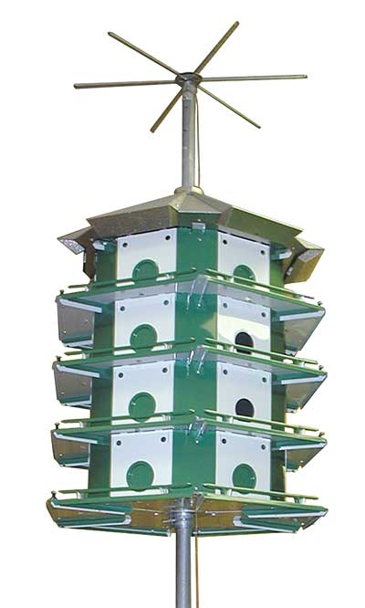 Trio Purple Martin Castle Safety System With Pole 24 Room At Bestnest Com