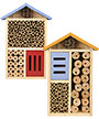 Nature's Way Beneficial Insect Houses, Blue and Yellow Roofs