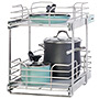 """Grayline by Panacea 2-Tier Slide Out Basket for 15"""" Cabinets"""