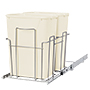 Grayline by Panacea Slide Out Frame with Two Trash Cans