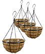 "Panacea Modern Farmhouse Hanging Baskets, 14"" dia, Pack of 4"