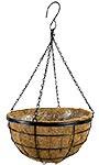 """Panacea Modern Farmhouse Hanging Basket, Black, 14"""" dia."""