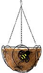 "Panacea Bee-Conscious Hanging Basket, Black, 14"" dia."