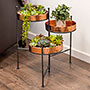 "Panacea 3 Tiered Plant Stand, Hammered Copper Finish, 20.5""H"