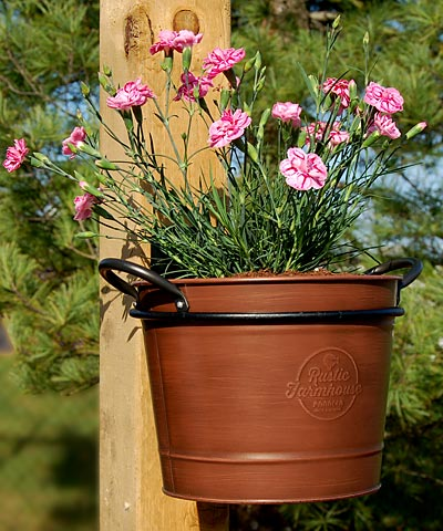 Panacea Washtub Planters W Wall Mounted Holders Pack Of 4 At