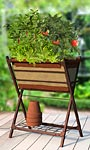 "Panacea Vintage Grow Bag Patio Planter and Stand, 26""L"