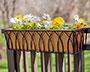 "Panacea Classic Deck Planter w/ Copper Colored Liner, 24""L"