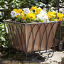 "Panacea Classic Square Planter w/ Copper Colored Liner, 12""L"