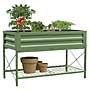 Panacea Metal Raised Planter Bed with Stand, Green