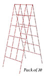 """Panacea A-Frame Plant Supports, Red, 48"""", Pack of 20"""