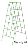 """Panacea A-Frame Plant Supports, Green, 48""""H, Pack of 20"""