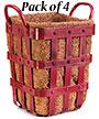 "Panacea Industrial Planter Bins, Antique Red, 12""H, 4 Pack"