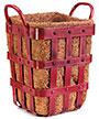 "Panacea Industrial Planter Bin, Antique Red, 12""H"