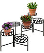 Panacea Contemporary 3-Tier Folding Plant Stands, Pack of 2