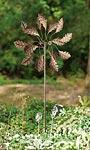 "Panacea Dual Oak Leaf Kinetic Art Windmill, Bronze, 70""H"
