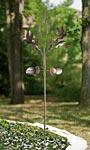 "Panacea Hummingbird Kinetic Art Windmill, Bronze, 84""H"