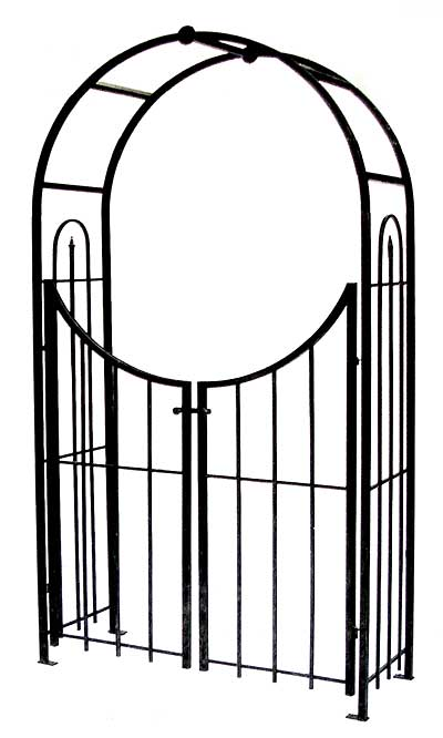 Panacea Arch Topped Garden Arbor With Gate Brushed Bronze At Bestnest