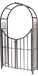 Panacea Arch Topped Garden Arbor with Gate, Brushed Bronze