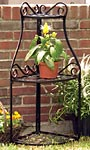 Panacea Forged Three-Tier Corner Plant Stand, Black, 39.75""