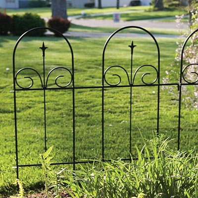 Panacea Wire Garden Border Fence w Finial 42H Pack of 5 at