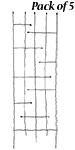 """Panacea Forged Twig & Leaf Trellises, Black, 72""""H, Pack of 5"""