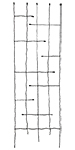 "Panacea Forged Twig & Leaf Trellis, Black, 72""H"