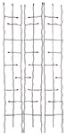 "Panacea Forged Narrow Twig Trellises, Black, 72""H, Pack of 3"