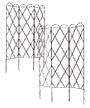 Panacea Three Panel Plant Support Trellises, Brown, 2 Pack