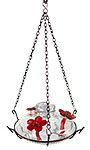 Parasol Bloom Hummingbird Feeder with Perch, Clear, 16 oz.