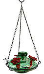 Parasol Bloom Hummingbird Feeder with Perch, Green, 16 oz.
