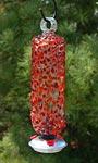 Parasol Filigree Hummingbird Feeder, Cinnabar Sprinkles