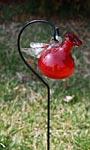 Parasol Pixie Staked Hummingbird Feeder, Red, 4 oz.