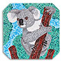 Prime Retreat Koala Paint By Numbers Canvas Pointillism